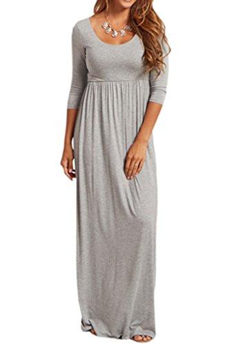 Jinson Women S Basic 3 4 Sleeve Maternity Long Maxi Dress