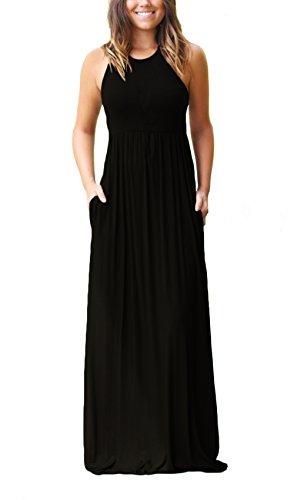 Korsis Women S Sleeveless Racerback Long Maxi Dress Summer