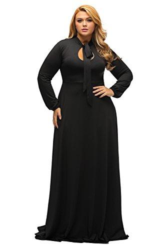 Maxi dress plus size black