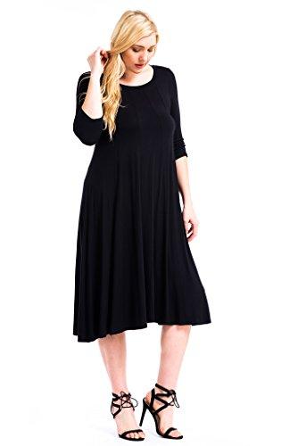 Plus size long black maxi dress